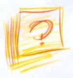 New ideas question mark symbol