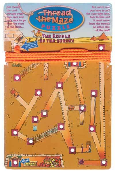Thread the Maze Puzzle prototype designs.