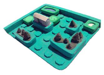Toy idea-golf model