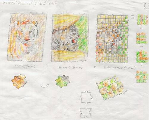Jigsaw inventor designs.