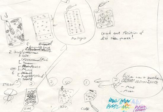 Puzzle inventor designs.